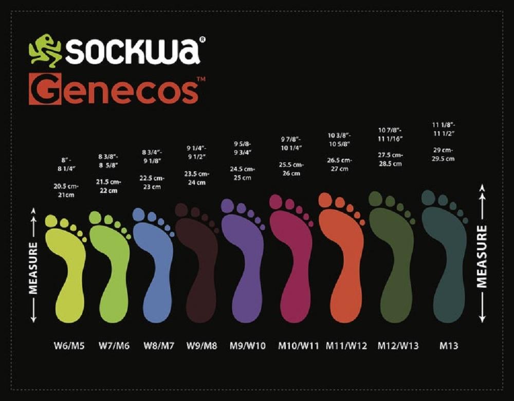 Afbeelding Sockwa maattabel