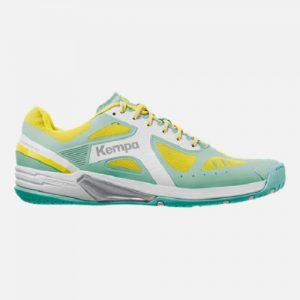 Kempa Wing Lite handbalschoen lichtblauw geel