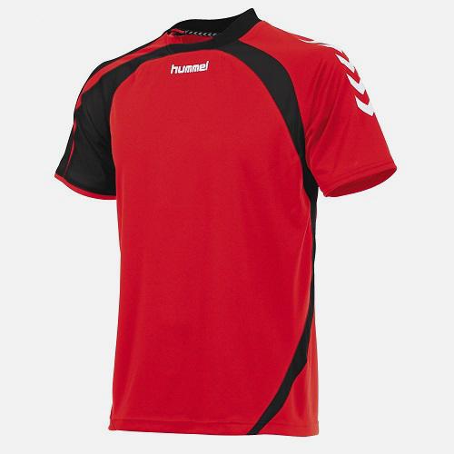 Afbeelding Hummel Odense shirt dames rood zwart