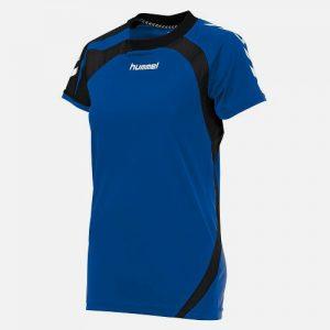 Afbeelding Hummel Odense shirt dames blauw zwart