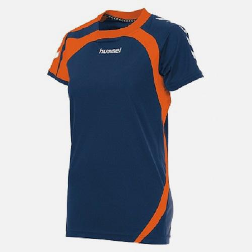 Afbeelding Hummel Odense shirt dames marine oranje