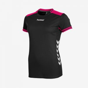Hummel Lyon sportshirt dames zwart roze