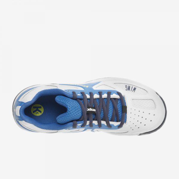 Afbeelding Kempa wing junior handbalschoen bovenkant kleur wit blauw