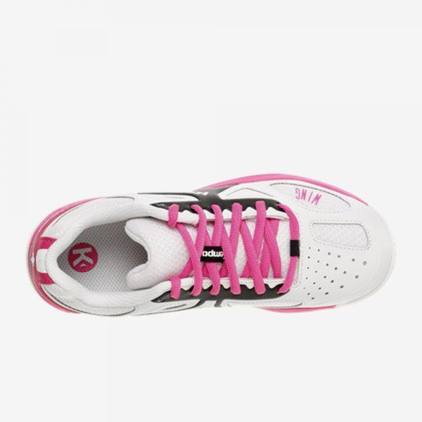 Afbeelding Kempa wing junior handbalschoen bovenkant kleur wit roze