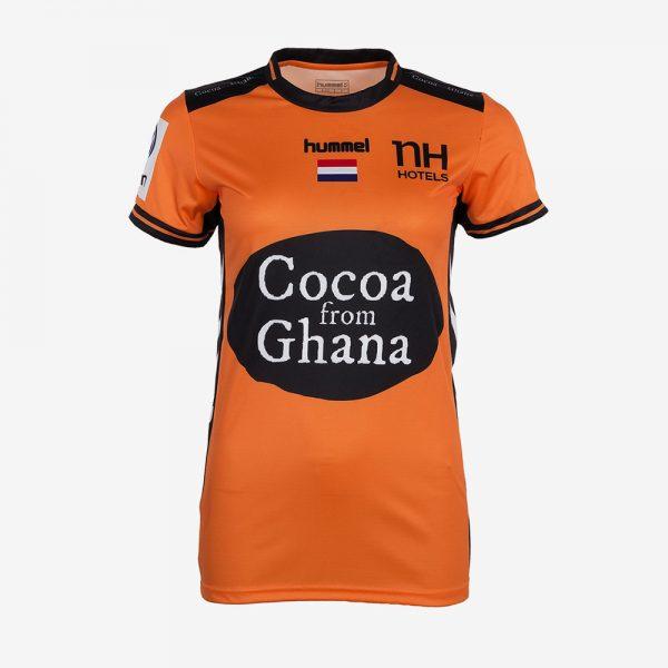 Afbeelding Nederlands handbaldames wedstrijdshirt oranje voorkant