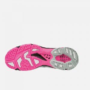 Afbeelding Mizuno Wave Lightning Z4 onderkant indoorschoen dames roze wit