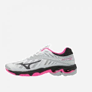 Afbeelding Mizuno Wave Lightning Z4 indoorschoen dames roze wit