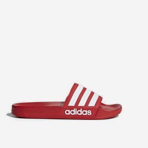 Adidas Adilette Cloudfoam badslipper rood