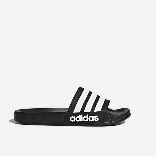 adidas adilette cloudfoam slippers zwart