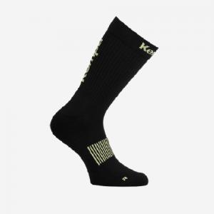 Afbeelding Kempa Logo Socks zijkant kleur zwart/geel