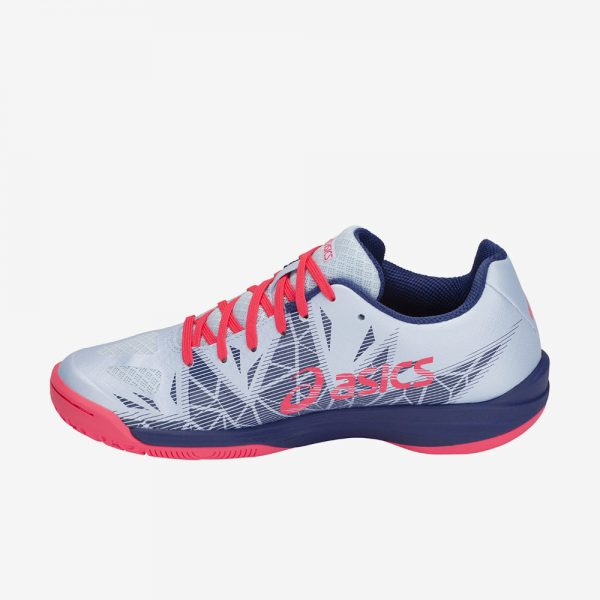 Asics Gel Fastball3 handbalschoen lichtblauw roze