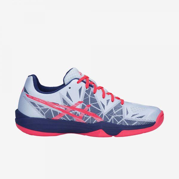 Asics Gel Fastball3 indoorschoen lichtblauw roze