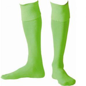 Afbeelding voetbalkousen fluor groen