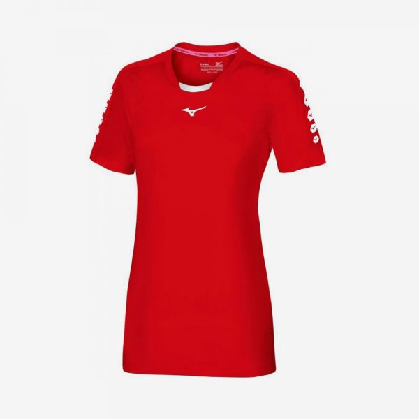 Mizuno Soukyu sportshirt dames rood
