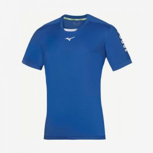 Mizuno Soukyu sportshirt heren blauw