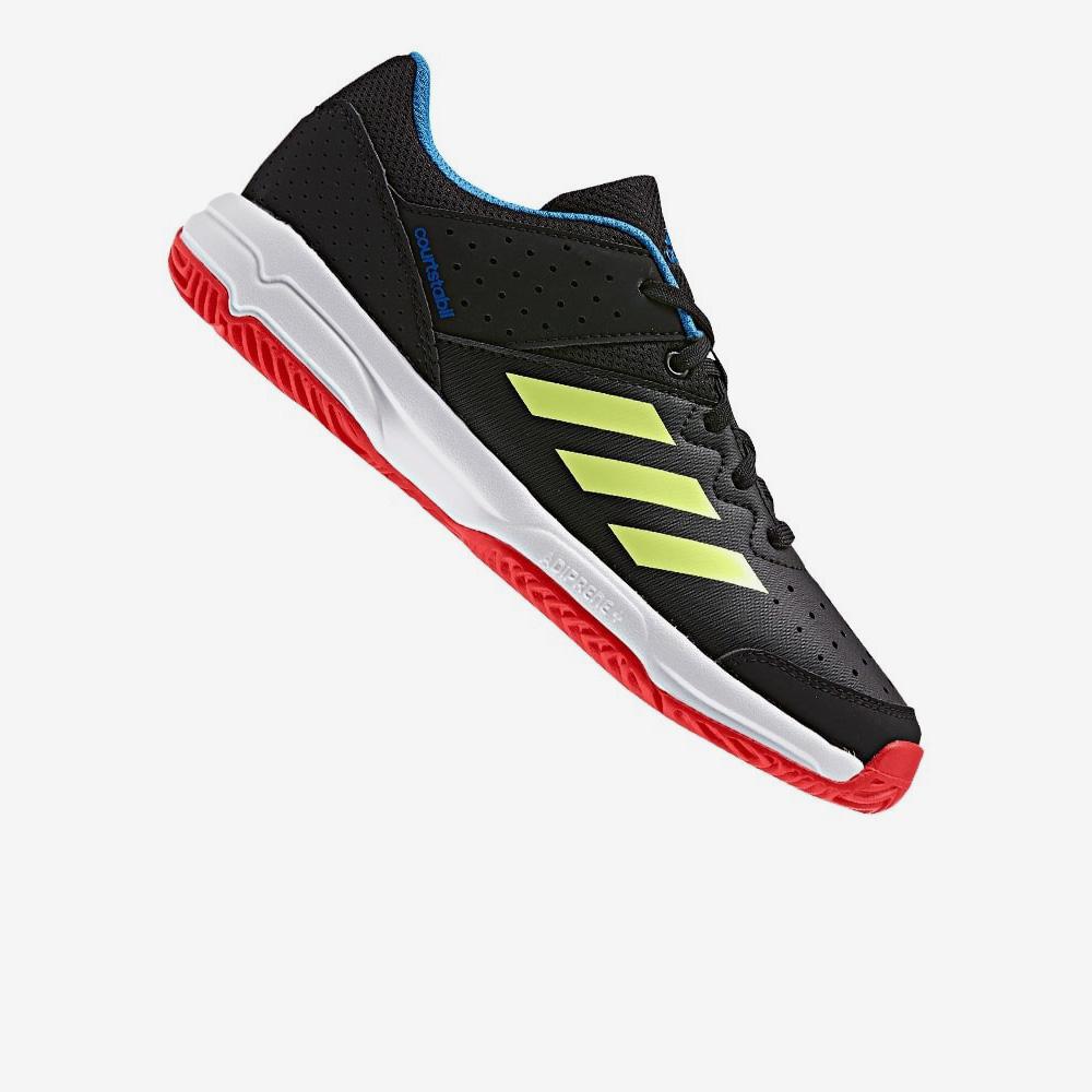 promo code bfa2b 6ab34 Afbeelding Adidas Court Stabil Jr handbalschoen zwart geel