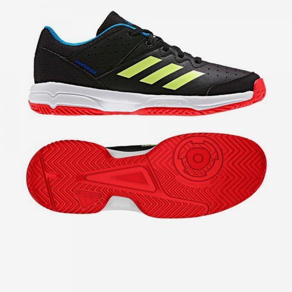 Adidas Court Stabil Jr handbalschoen zwart geel