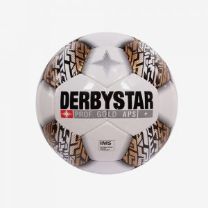 Afbeelding Derbystar Prof Gold voetbal wit goud