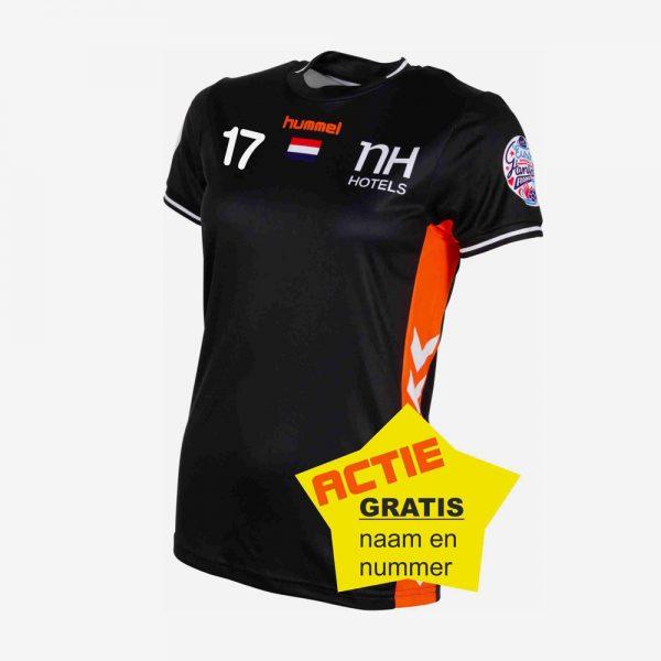 Afbeelding Hummel EK 2018 shirt Nedrlands handbaldames zwart