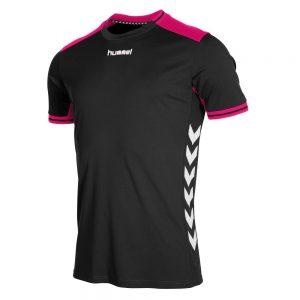 Afbeelding Hummel Lyon shirt uni zwart blauw