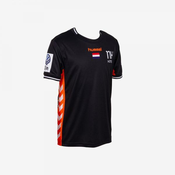 hummel EK 2018 shirt Nederlandse handbaldames korte mouw zwart