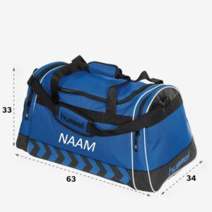 Afbeelding Hummel Luton Bag sporttas blauw bedrukt met naam