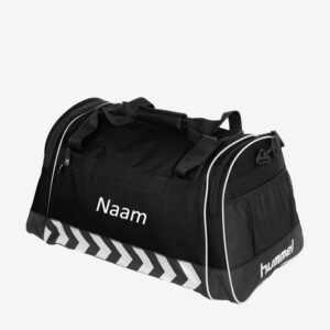 Afbeelding Hummel Luton Bag sporttas zwart bedrukt met naam