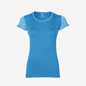 Afbeelding Asics FuzeX Top Hardloopshirt dames voorkant blauw