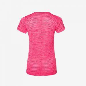 Afbeelding Asics FuzeX V-neck hardloopshirt dames achterkant roze