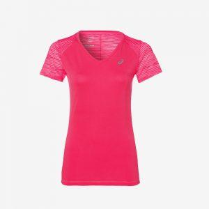 Afbeelding Asics FuzeX V-neck hardloopshirt dames voorkant roze