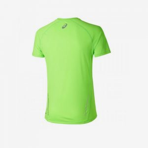 Afbeelding Asics hardloopshirt heren achterkant groen