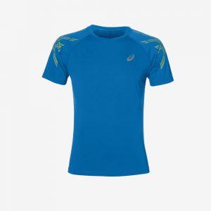 Afbeelding Asics Strip hardloopshirt voorkant heren blauw
