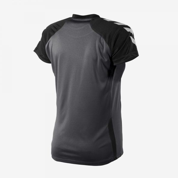 Hummel Aarhus shirt dames achterkant sportshirt zwart