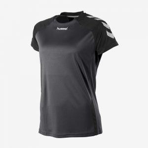 Hummel Aarhus shirt dames voorkant sportshirt zwart