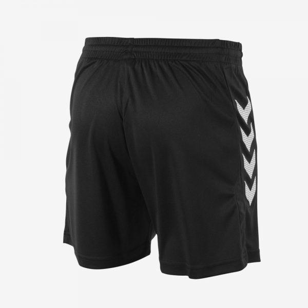 Hummel Aarhus short achterkant sportbroekje zwart