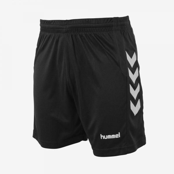 Hummel Aarhus short sportbroek dames voorkant zwart