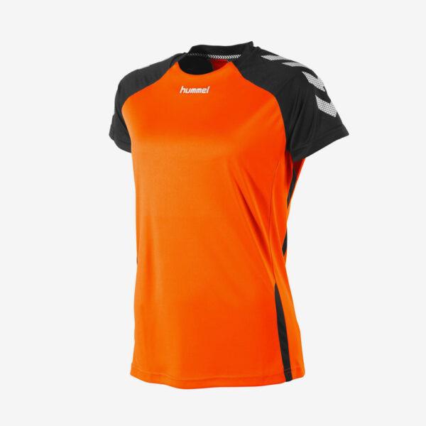 Afbeelding Hummel Aarhus shirt dames voorkant sportshirt oranje