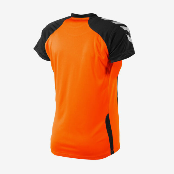 Afbeelding Hummel Aarhus shirt dames achterkant sportshirt oranje