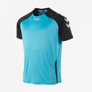 Hummel Aarhus shirt voorkant sportshirt aquablauw
