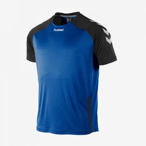 Hummel Aarhus shirt voorkant sportshirt blauw