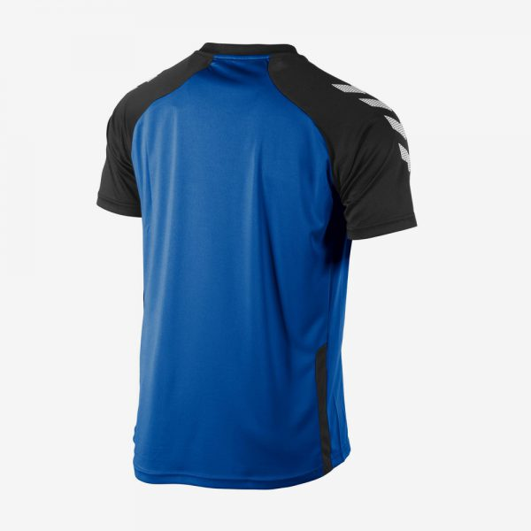 Hummel Aarhus shirt achterkant sportshirt blauw