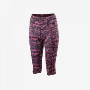 Rogelli Running Capri Joy hardloopbroek voorkant dames roze