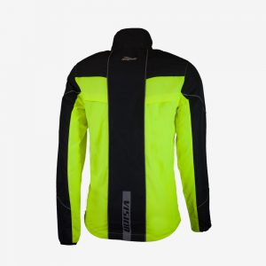 Rogelli Vision 2.0 runningjack hardloopjas achterkant heren geel