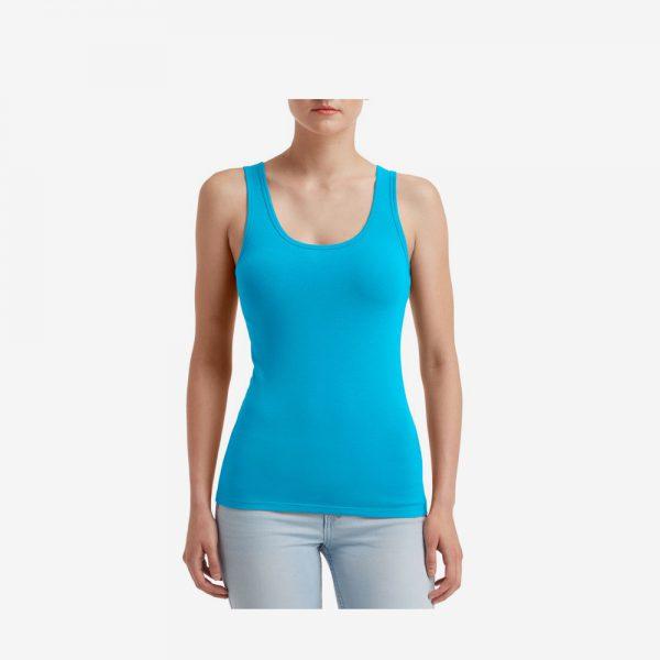 Afbeelding Anvil tanktop stretch dames blauw