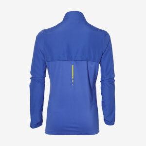 Asics runningjack hardloopjas achterkant herens blauw