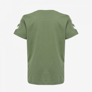 Hummel Jaki T-shirt achterkant legergroen