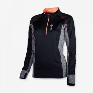 Afbeelding Rogelli Running Top hardloopshirt Maura voorkant dames zwart