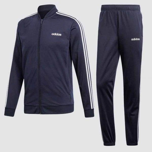 Adidas 3 stripes trainingspak heren blauw
