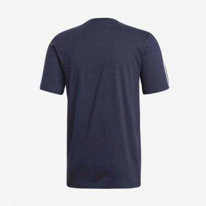 Afbeelding Adidas Essentials 3-stripes t-shirt sportshirt heren voorkant blauw