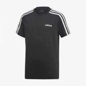 Afbeelding Adidas Essentials 3-stripes t-shirt sportshirt heren voorkant zwart